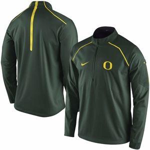 nike oregon ducks alpha fly rush 1/4 zip jacket
